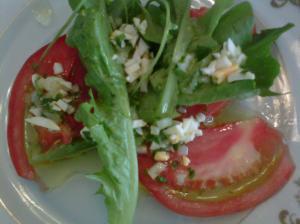 Salada com o molho vinagrete! hummm