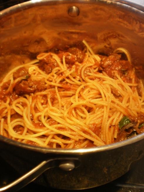 Espaguette com a carne de panela... delícia