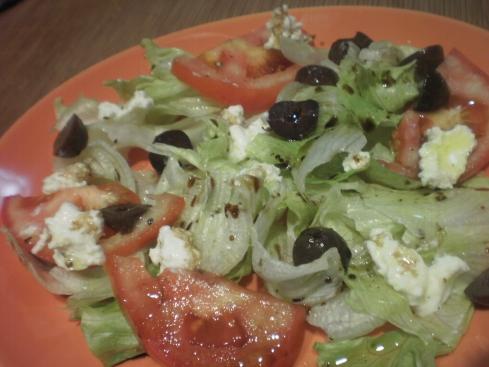 Salada queijo cottage+azeitona